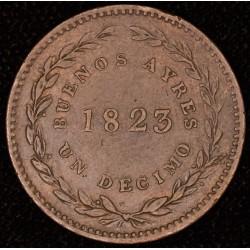 Buenos Aires 1/10 1823 CJ2.1 EXC-