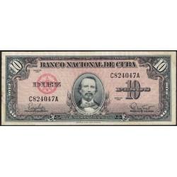Cuba 10 Pesos 1960 P79b MB/MB+