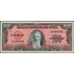 Cuba 100 Pesos 1959 P93a EXC-