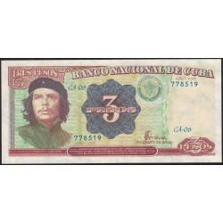 Cuba 3 Pesos 1995 P113 UNC