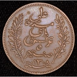 Tunisia 5 Centimos 1891A EXC