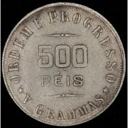 Brasil 500 Reis 1906 KM506 Ag EXC+
