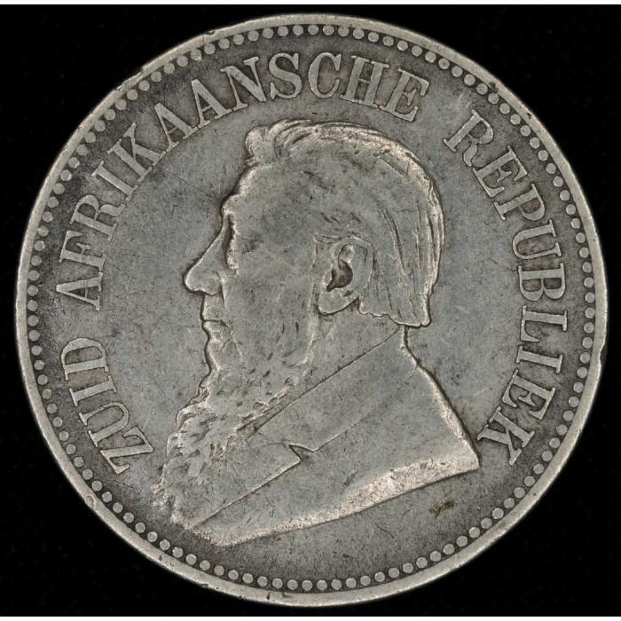 Sudafrica 2 1/2 Shillings 1895 KM7 Ag EXC