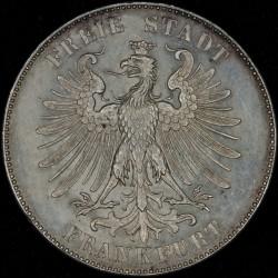 Alemania Frankfurt 1 Thaler 1859 KM359 Ag EXC+