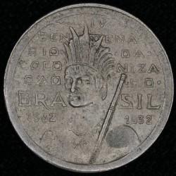 """Brasil 100 Reis 1932 KM527 """"400° Aniv Colonizacion"""" EXC-"""