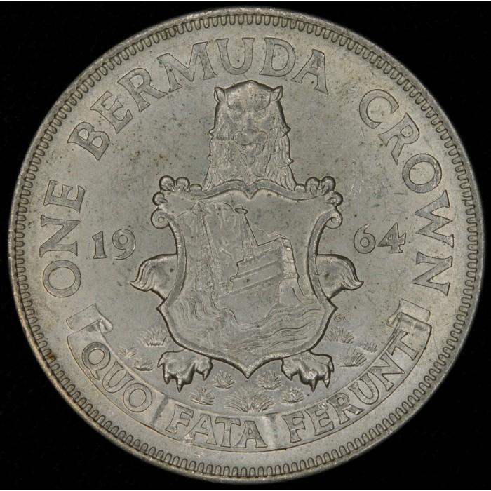 Bermuda 1 Crown 1959 KM14 Ag UNC