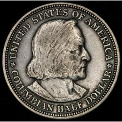 EE.UU. Columbian Half Dollar 1893 KM117 Ag MB+