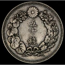 Japon 50 Sen 1906 Y31 Ag MB+