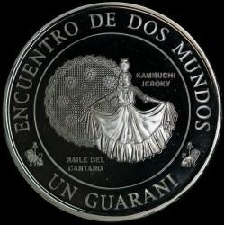 Paraguay 1 Guarani 1997 III Serie Iberoamericana Baile del Cantaro Ag UNC