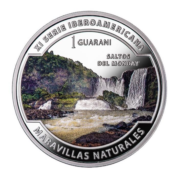 Paraguay 1 Guarani 2017 XI Serie Iberoamericana Maravillas Naturales Ag UNC