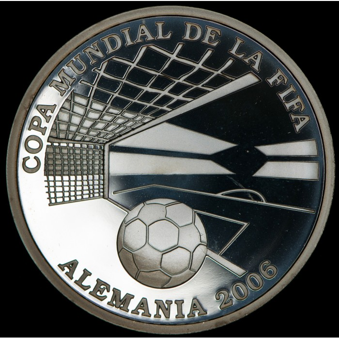 Paraguay 1 Guarani 2003 Arco mundial Fifa Alemania Ag UNC