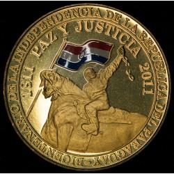 Paraguay 100 Guaranies 2011 Bicentenario de la independencia UNC
