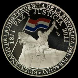 Paraguay 150 Guaranies 2011 Bicentenario de la independencia Ag UNC