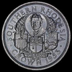 Rhodesia del Sur 1 Crown 1953 KM27 Ag EXC+