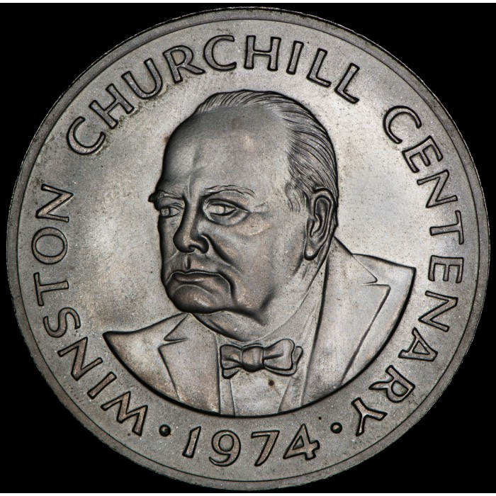 Turk and Caicos Churchill 20 Crowns 1974 KM2 Ag UNC