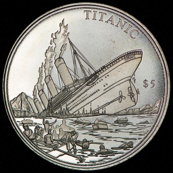 Liberia 5 Dollars 2000 Titanic KM652 UNC