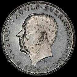 Suecia 5 Coronas 1966 KM839 Ag UNC