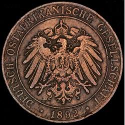 Africa Oriental Alemana 1 Pesa 1892 KM1 Cobre MB-