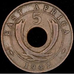 Africa del Este 5 Cents 1942 KM25.2 Bronce MB