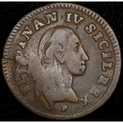 Napoles Sicilia 1 Tonese 1791/0 KM203 B+ Cobre