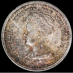 Holanda 10 Cent 1918 KM145 Ag EXC+