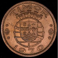 Timor 1 Escudo 1970 KM19 Cobre EXC+