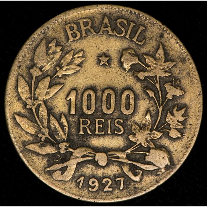 Brasil 1000 Reis 1927 KM525 Bronce MB-/MB