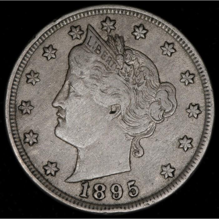 Estados Unidos V Cents 1895 KM112 Nickel MB