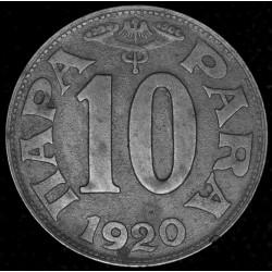 Yugoeslavia 10 Para 1920 KM2 Zinc MB+