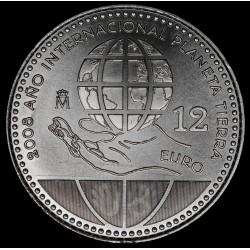 España 12 Euro 2008 Año Int. Planeta Tierra KM1195 Ag UNC