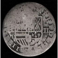 España Segovia 2 Reales 1627 P KM93.1 Ag M
