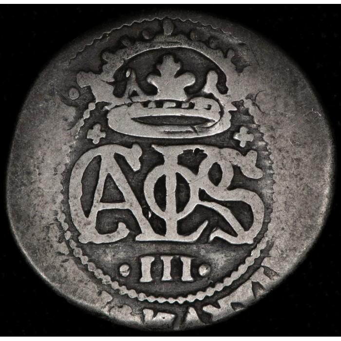 España Barcelona 2 Reales 1707/14 KM-PT5 Ag REG-