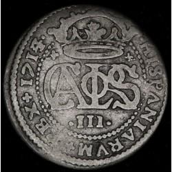 España Barcelona 2 Reales 1714 Año Raro KM-PT5 Ag B/B+