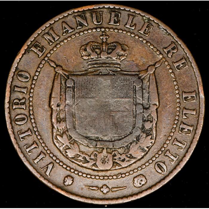 Italia Toscana 5 Centesimi 1859 KMC83 Cobre B+