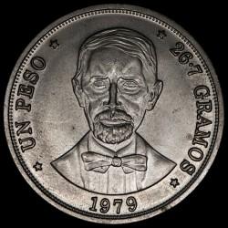 República Dominicana 1 Peso 1979 KM53 Cu-Ni EXC+