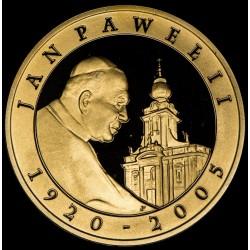 Polonia 10 Zlotych 2005 KMY526 Papa Juan Pablo II Anverso Enchapado en Oro Ag UNC