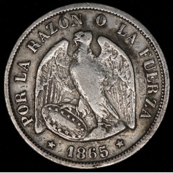 Chile 20 Cents 1965 KM135 Ag MB+