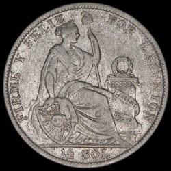 Perú 1/2 Sol 1927 KM216 Ag MB