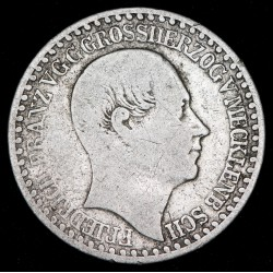 Alemania Mecklemburg Schwerin 1/12 Thaler 1848 KM302 Ag MB-
