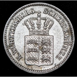 Alemania Bavaria 1 Kreuzer 1870 KM873 Ag EXC-