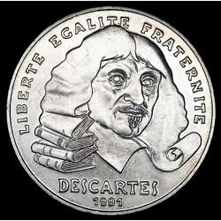 Francia 100 Francos 1991 Descartes KM996 Ag EXC+