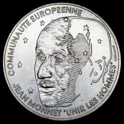 Francia 100 Francos 1992 Jean Monnet KM1120 Ag EXC+