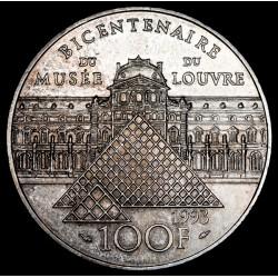 Francia 100 Francos 1993 Louvre KM1018.1 Ag EXC