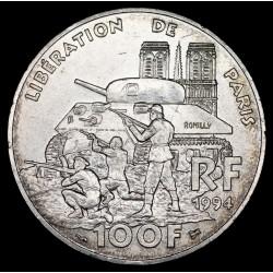 Francia 100 Francos 1994 Liberacion de Paris KM1045.1 Ag EXC