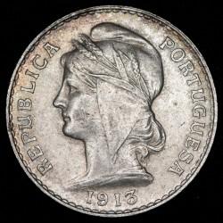 Portugal 50 Centavos 1913 KM561 Ag EXC+