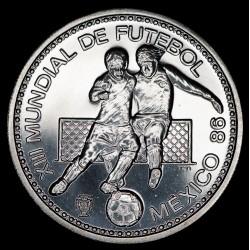 Portugal 100 Escudos Mundial Mexico 1986 KM637a Ag UNC