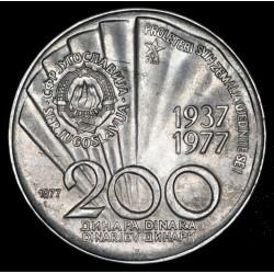 Yugoeslavia 200 Dinara 1977 Tito 85 KM64 Ag EXC-