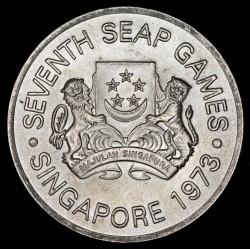 Singapur 5 Dolares 1973 Juegos SEAP KM10 Ag EXC+