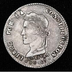 Bolivia 1 Sol 1862 FP KM134.2 Ag MB+