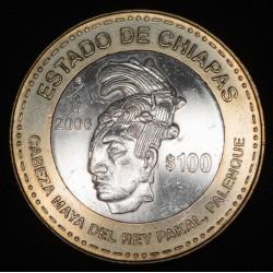 Mexico 100 Pesos Chiapas 2006 KM773 Ag EXC+